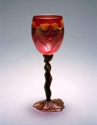 Figurative Goblet with Marc Boutte glass